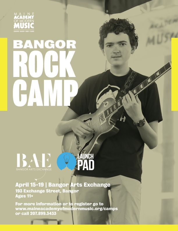 APRIL ROCK CAMP! - Why wait until summer?  Come rock out with MAMM in Bangor over the April school vacation week!