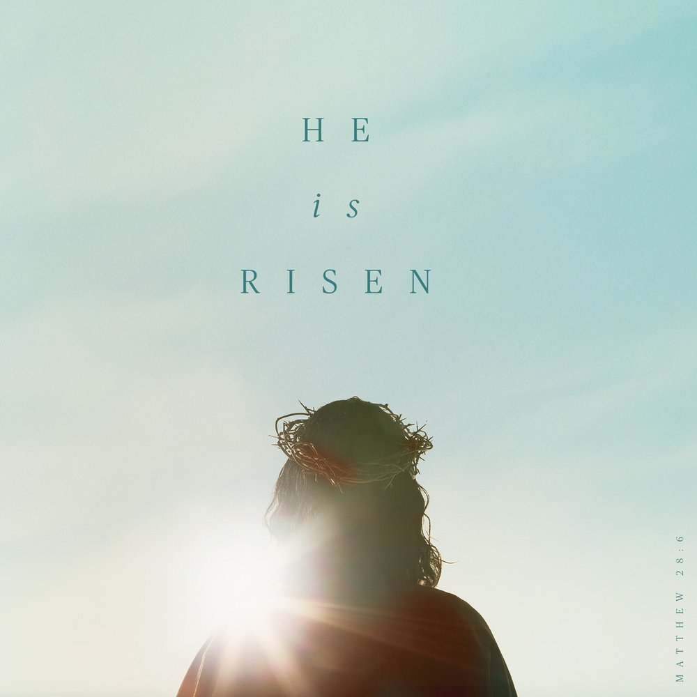 """He is not here. For he has risen, just as he said. Come and see the place where he lay.""  ‭‭Matthew‬ ‭28:6‬ ‭CSB‬‬   http://bible.com/1713/mat.28.6.csb"