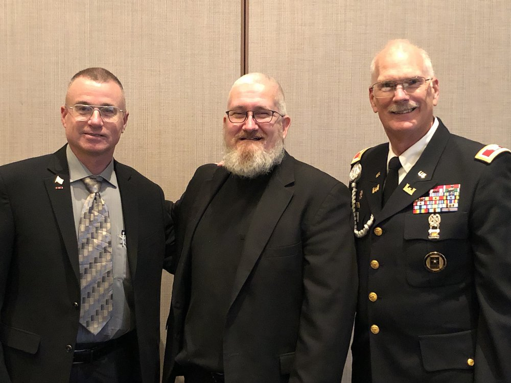 Ed Manning & Father Blazek with COL-R Gessner
