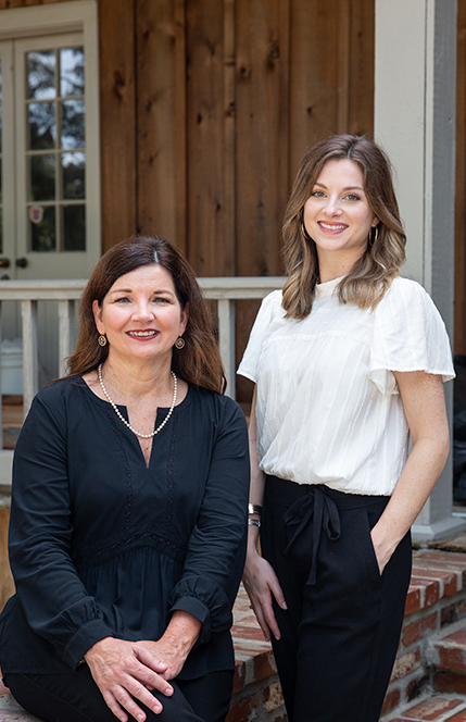 The mother-daughter design team of Melane Landry and Erin DeRouen.