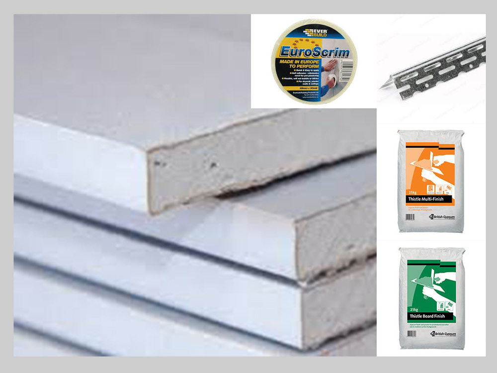 PLASTERS, PLASTERBOARDS, ACCESSORIES