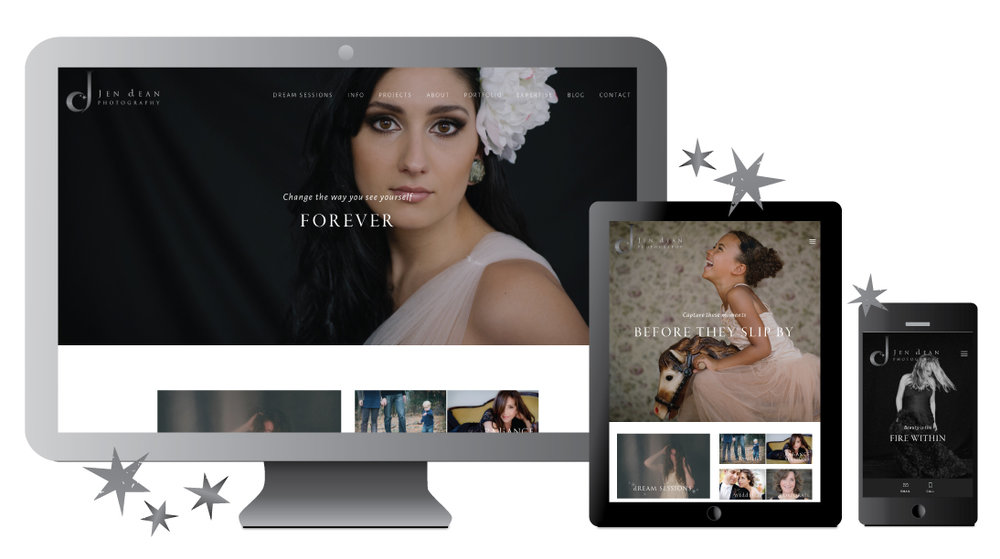 We created a beautiful new responsive website to take the client on a journey into her Dream Sessions.