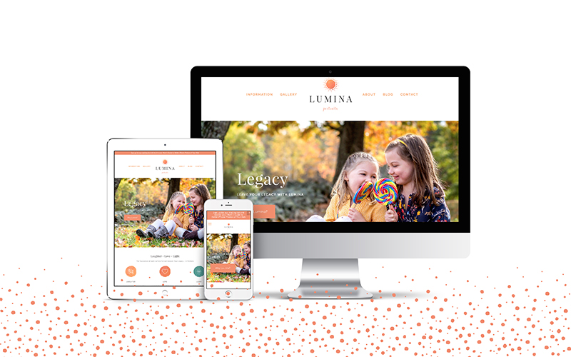 We designed a responsive, mobile friendly new website for Lumina Portraits.
