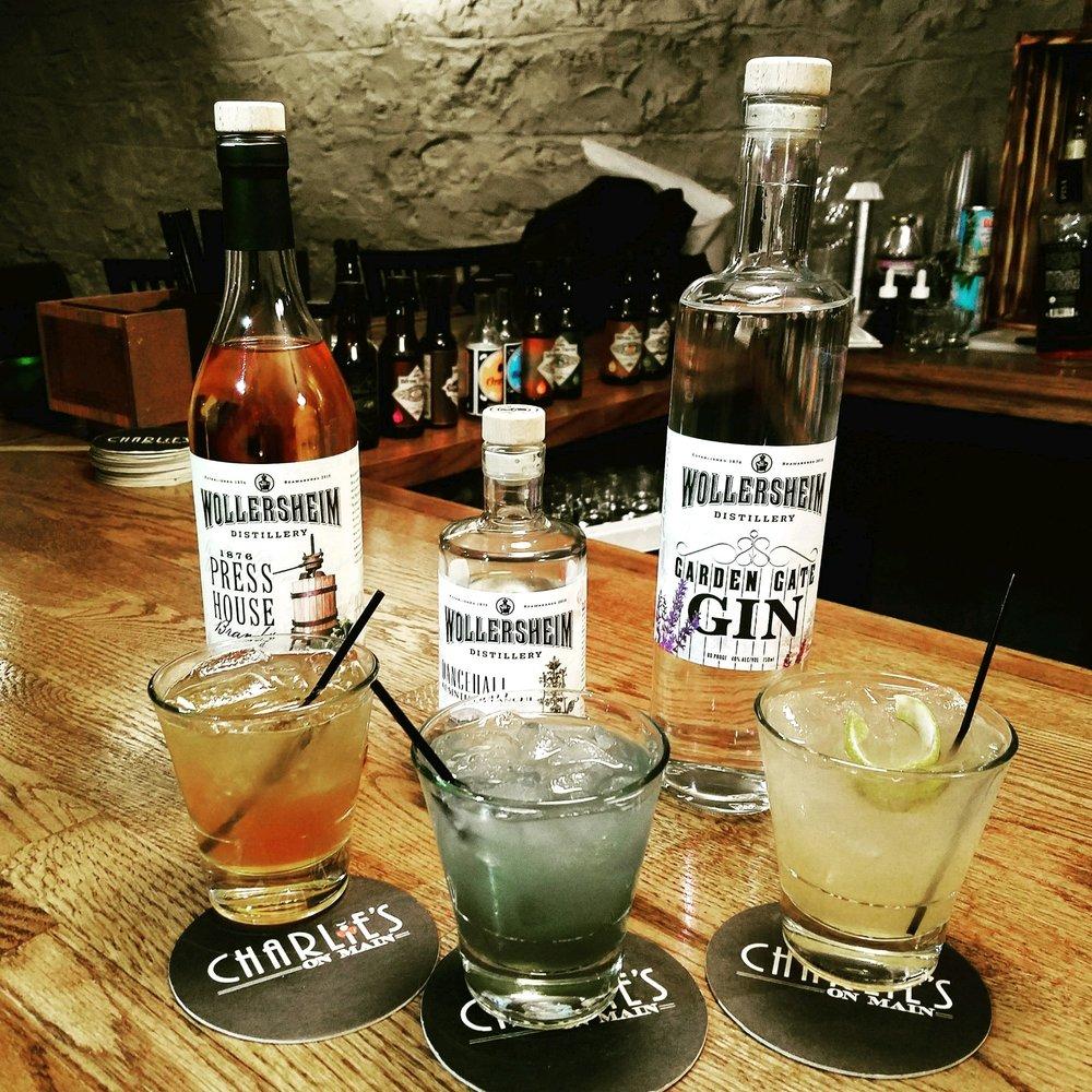 Custom cocktails featuring Wollersheim spirits