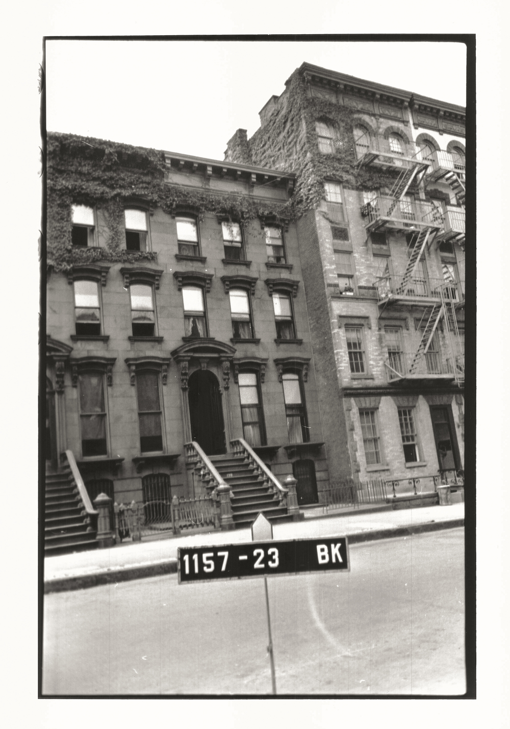 The brownstone as it existed in the early 1940s
