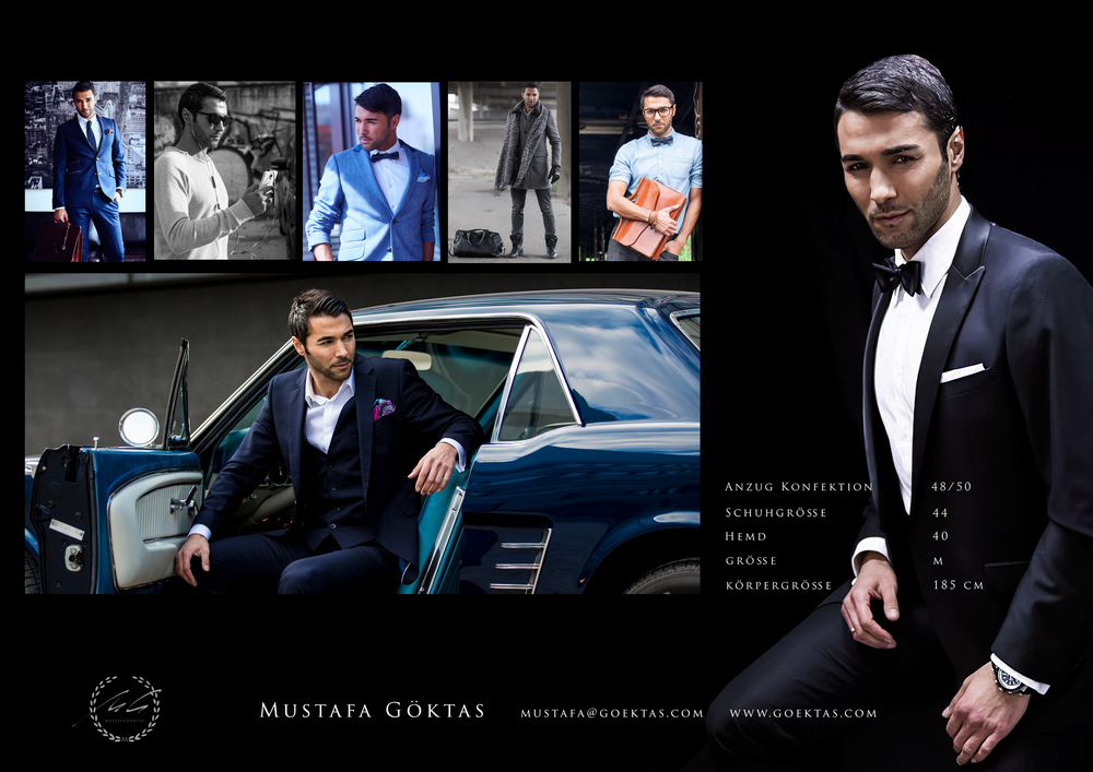 Mustafa Göktas Sedcard Model Stuttgart Caladan Leather Korytko Mr Ash Tailor Store Gentsbox Egotrips New York Mailand Paris Barcelona Ibiza Palma Mallorca Berlinale VIP Red Carpet Star