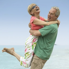Couple in the Mexican Caribbean