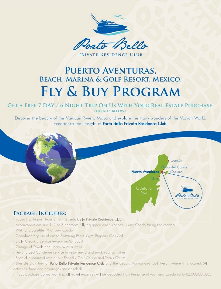 Fly and Buy to the Mexican Caribbean