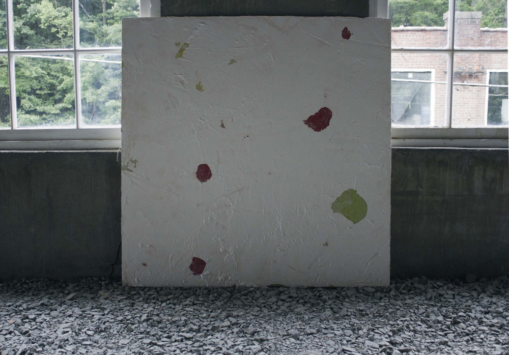 Untitled  , Plaster and paint on wood, 90cm/90cm, 2014