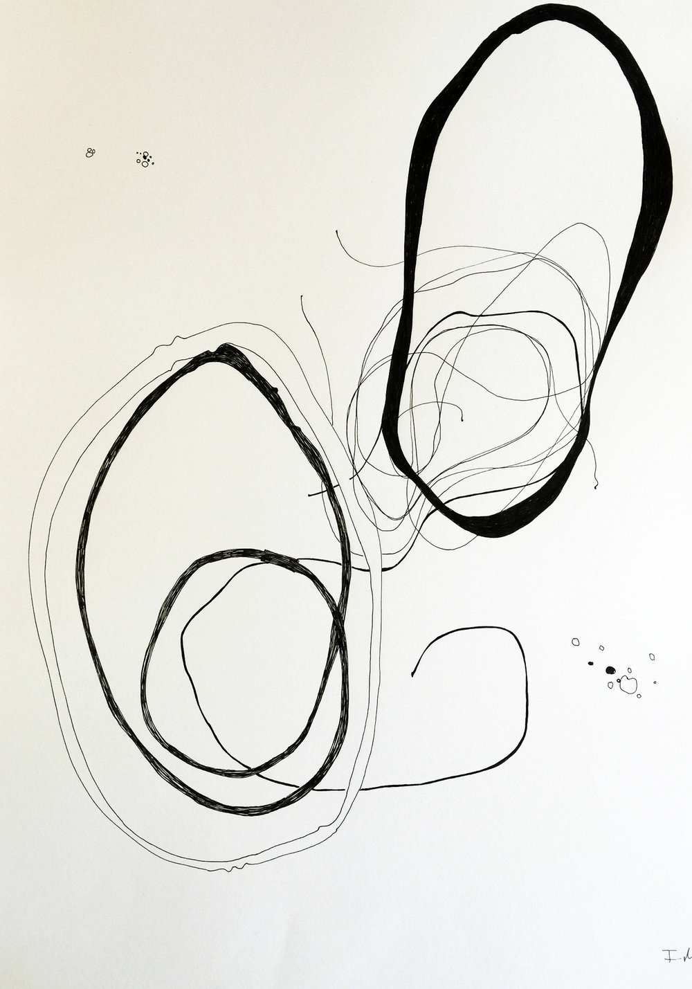 Ink on paper, A2 (approx. 16.5in x 23 in)