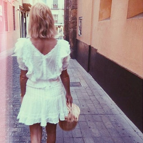 Heatwave 💦Dream Girl @pandorasykes with her Birkin basket   #birkinbasket #bloomingdreamer