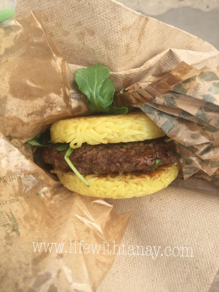Ramen Burger! Yummy.