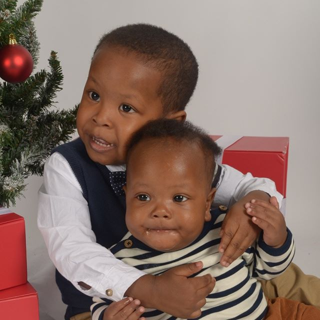 👋🏾👋🏾 Mommy made us our own page so we can stop taking over her iG (like that'll happen)! This is one our first professional pictures together for Christmas! 🎅🏼🎄 . . . . Make sure you follow us @rjandzayn so you can keep up with everything we're doing! 👦🏽👶🏽