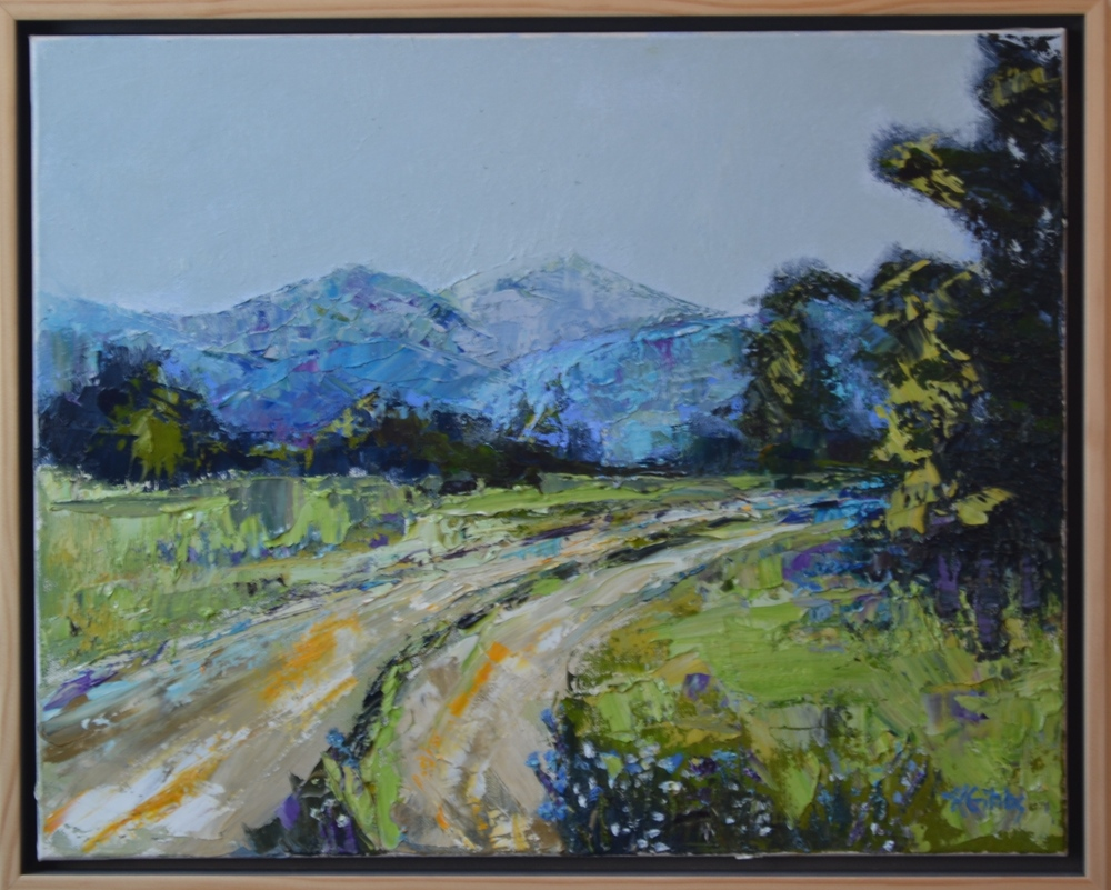 """""""Going Home"""", Framed Oil on Canvas, 17.5 x 21.5"""
