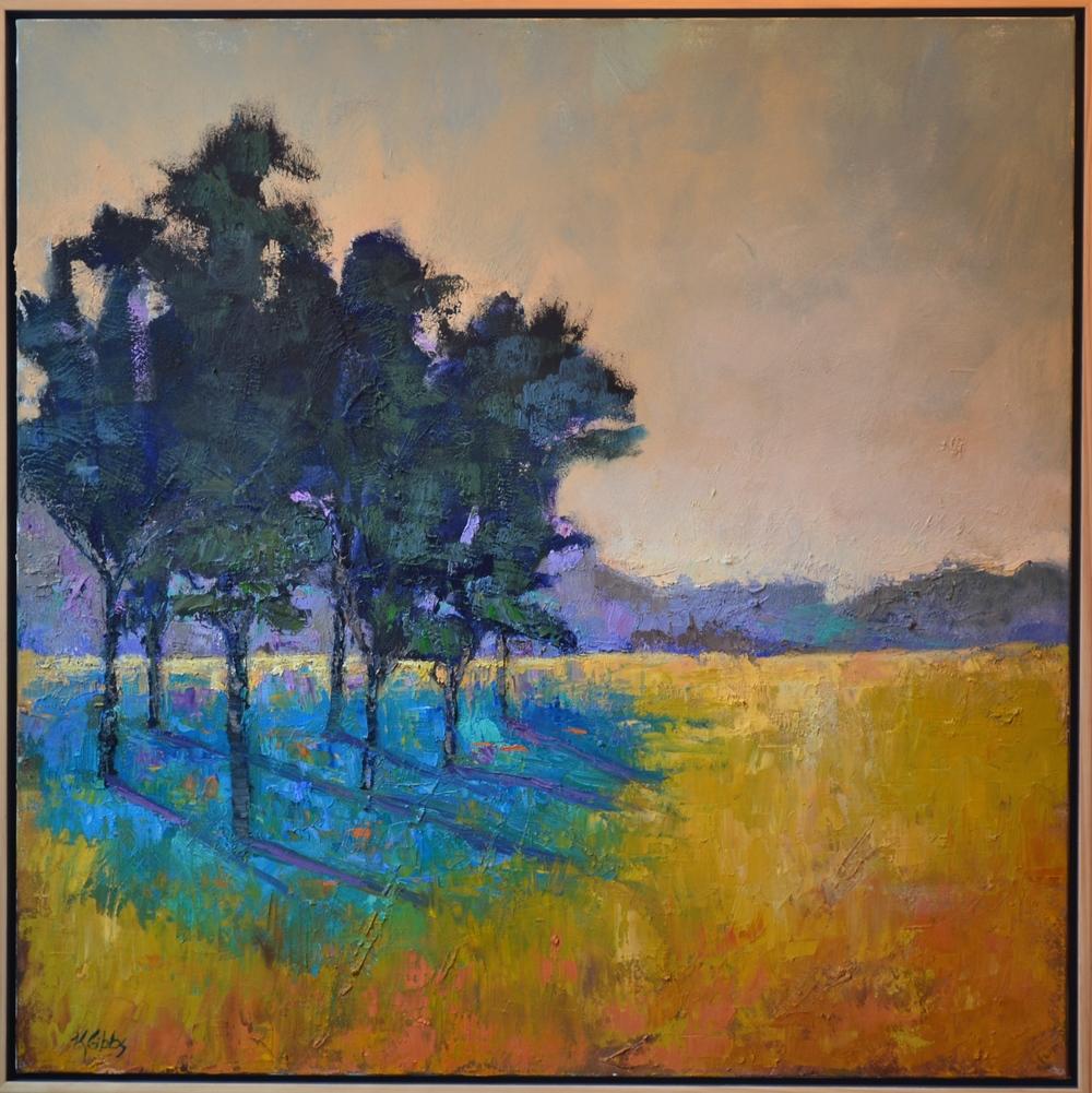 """""""Blue Shadows"""", Oil on Canvas, 36 x 36"""