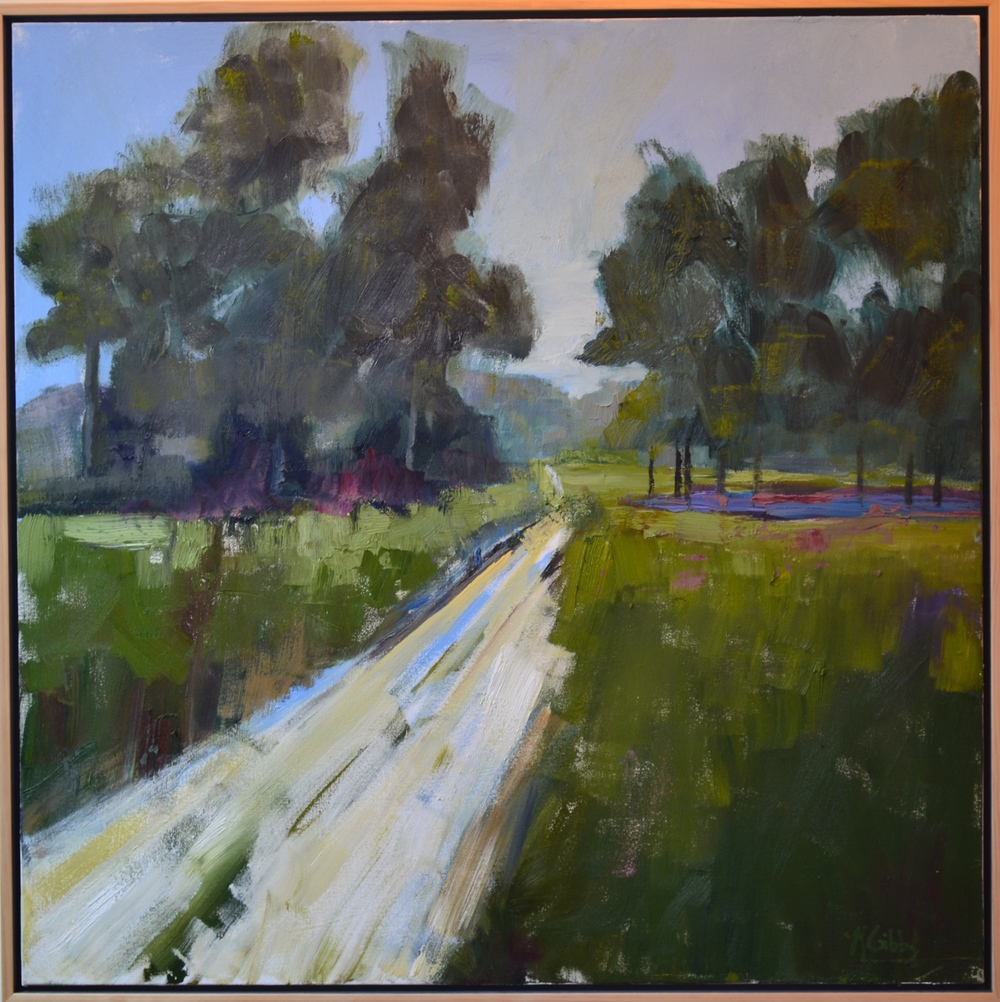 """""""The Road Home"""", Framed Oil on Canvas, 36 x 36 (SOLD)"""