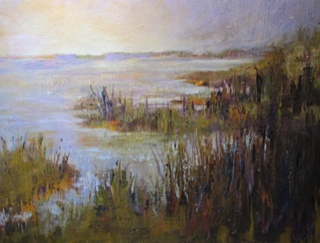 """Marsh Bay"", Oil on Canvas, 30 X 40,"
