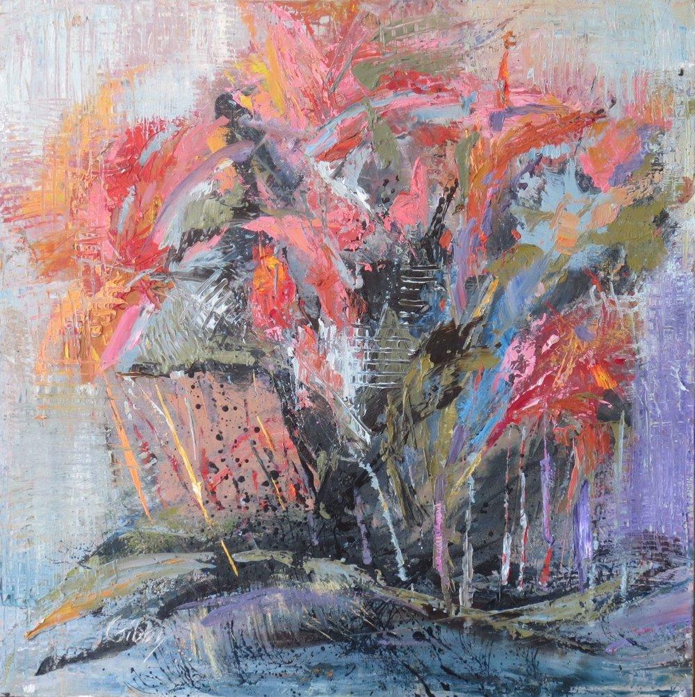 """Firecracker"", Oil on Canvas, 24x24"