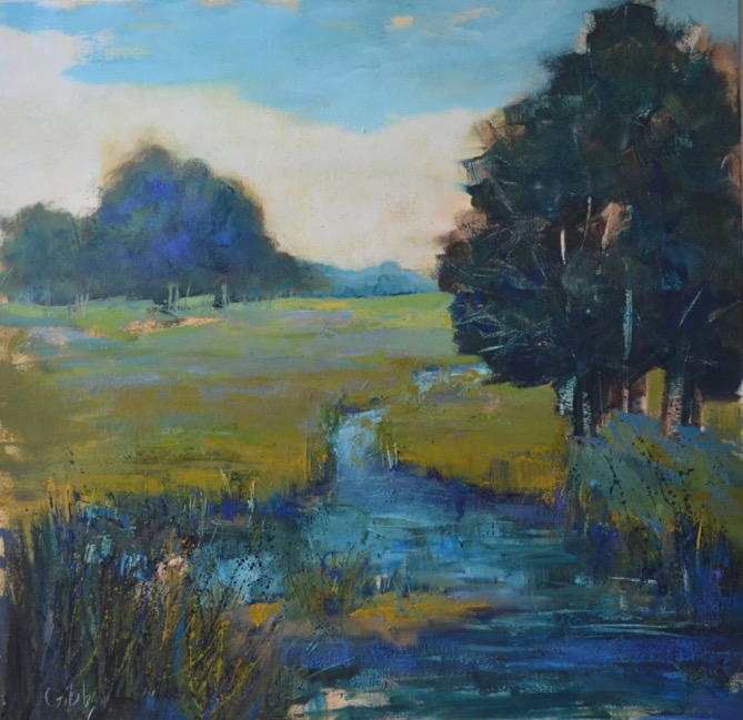 """River Run,"" Oil on Canvas, 36 X 36"