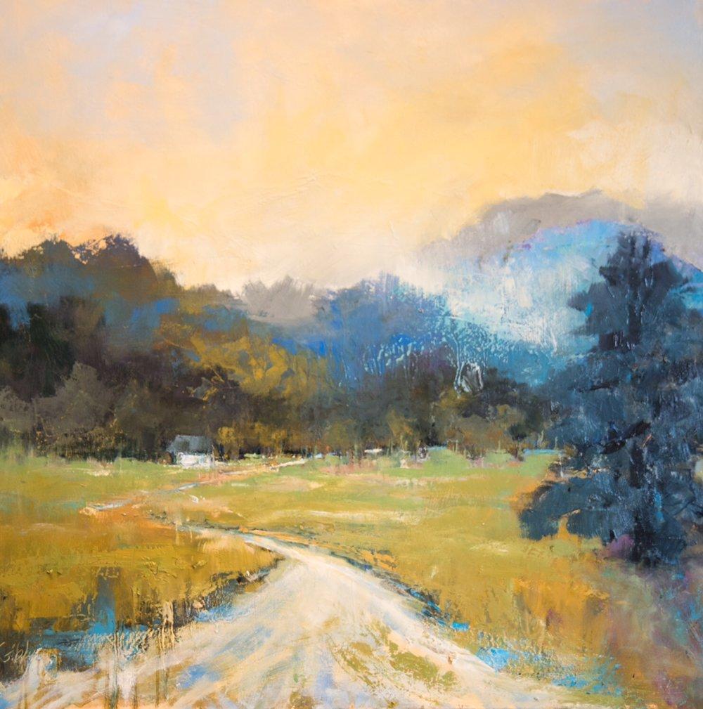 """""""Mountain Mist,"""" Oil on Canvas, 36 X 36 (SOLD)"""