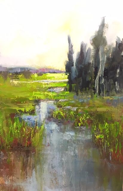 """""""Green Sky"""", Oil on Canvas, 36 x 24"""