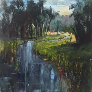 """The Bend"", Oil on Canvas, 36 x 36"