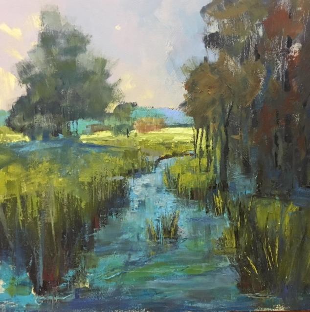 """""""Secret Place"""", Oil on Canvas, 36 x 36"""