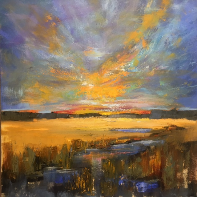"""Sky Dance"" Oil on Canvas, 36 x 36"