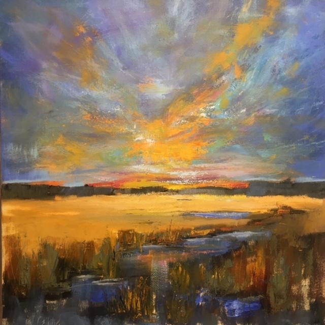 """""""Sky Dance"""" Oil on Canvas, 36 x 36"""