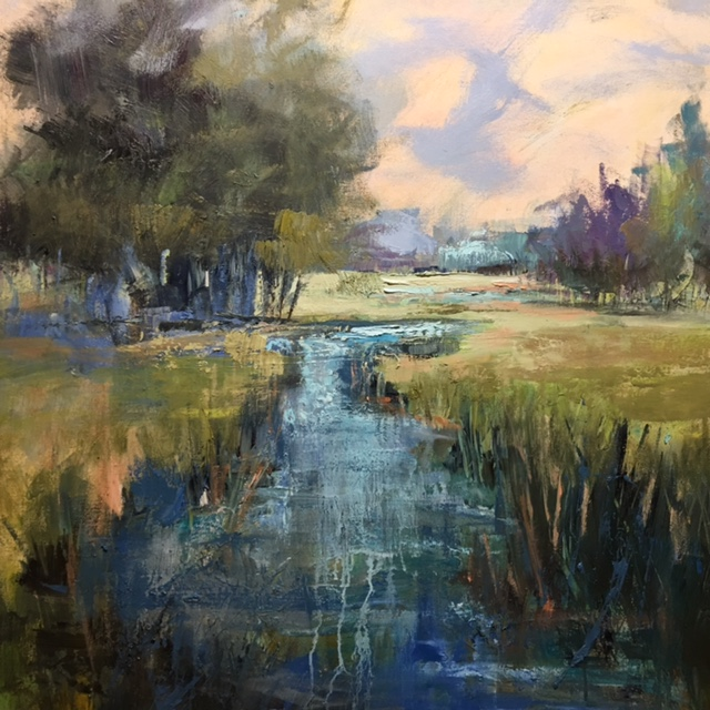 """Breathe"", Oil on Canvas, 36 x 36"