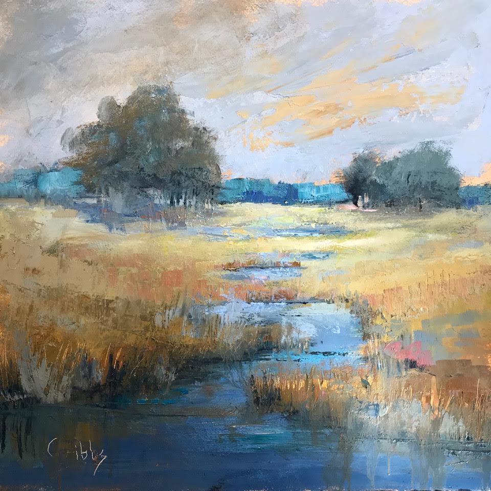 """""""Calm"""", Oil on Canvas, 30 x 30"""