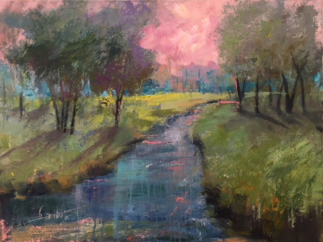 """Paris in Spring"", Oil on Canvas, 31 x 36"