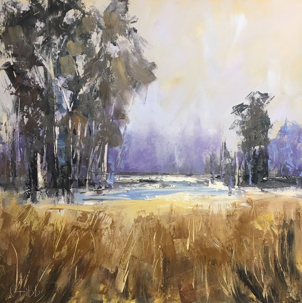 """High Meadow"", Oil on Canvas, 40 x 40"
