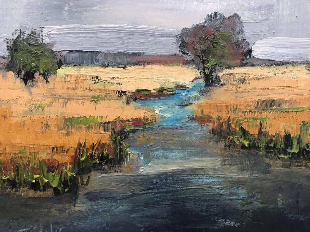 """Pretty Marsh"", Oil on Canvas, 8 x 10"