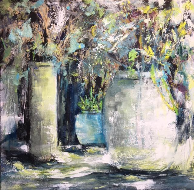 """""""Table Dance"""", Oil on Canvas, 36x36"""
