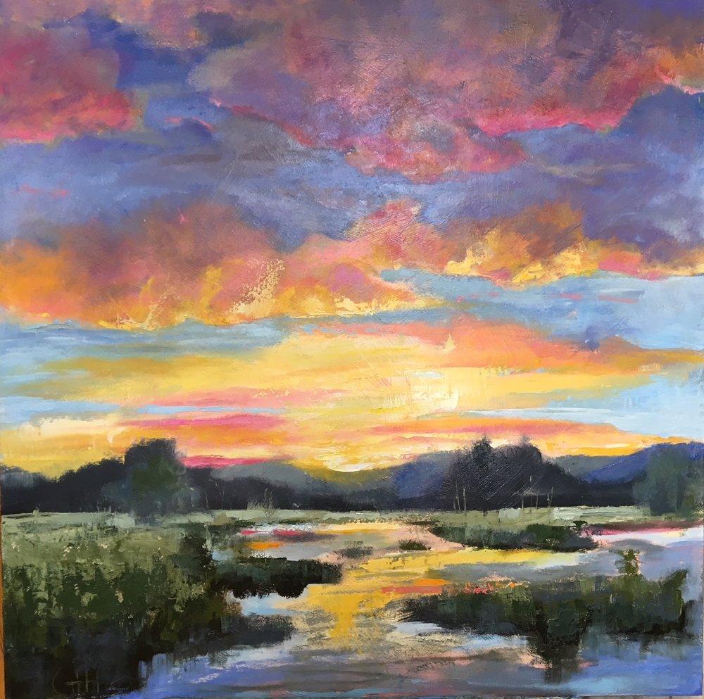 """Charleston Eve"", Oil on Canvas, 48 x 48"
