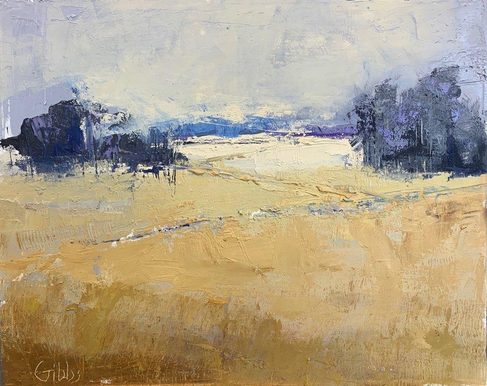 Ochre Fields, Oil on Canvas, 16 x 20