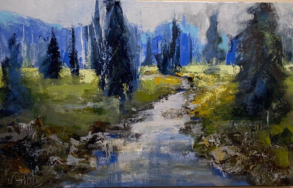 """Evergreen"", Oil on Canvas, 30 x 48"
