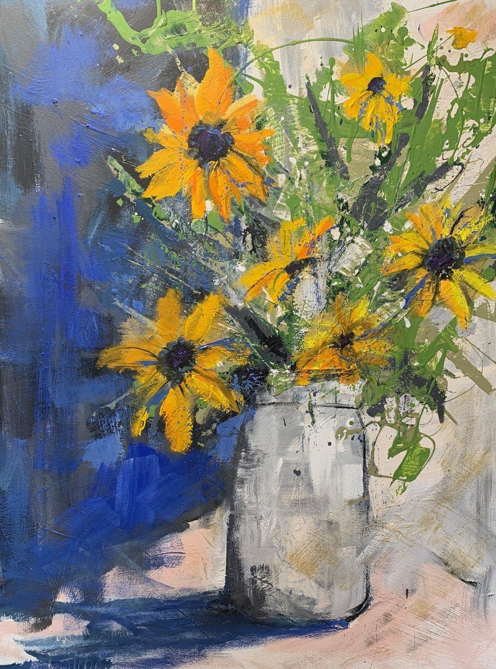 """Flower Power"", Oil on Canvas, 40 x 30"