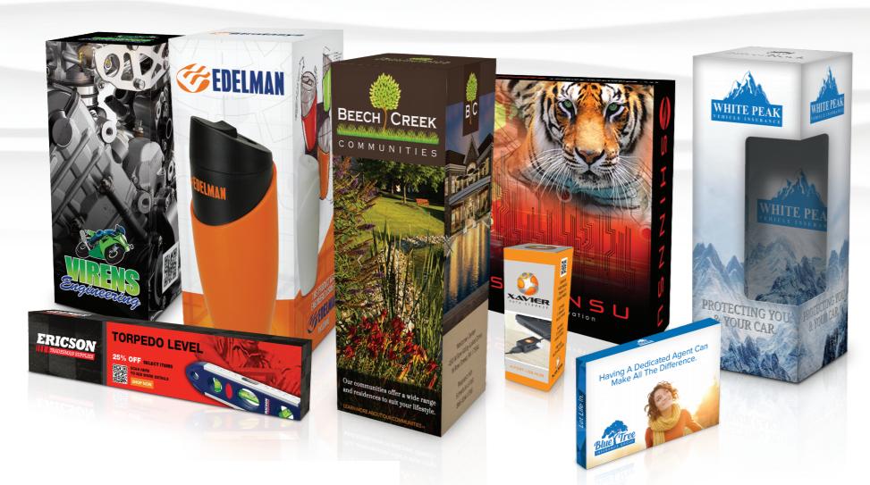 Custom packaging promotional items