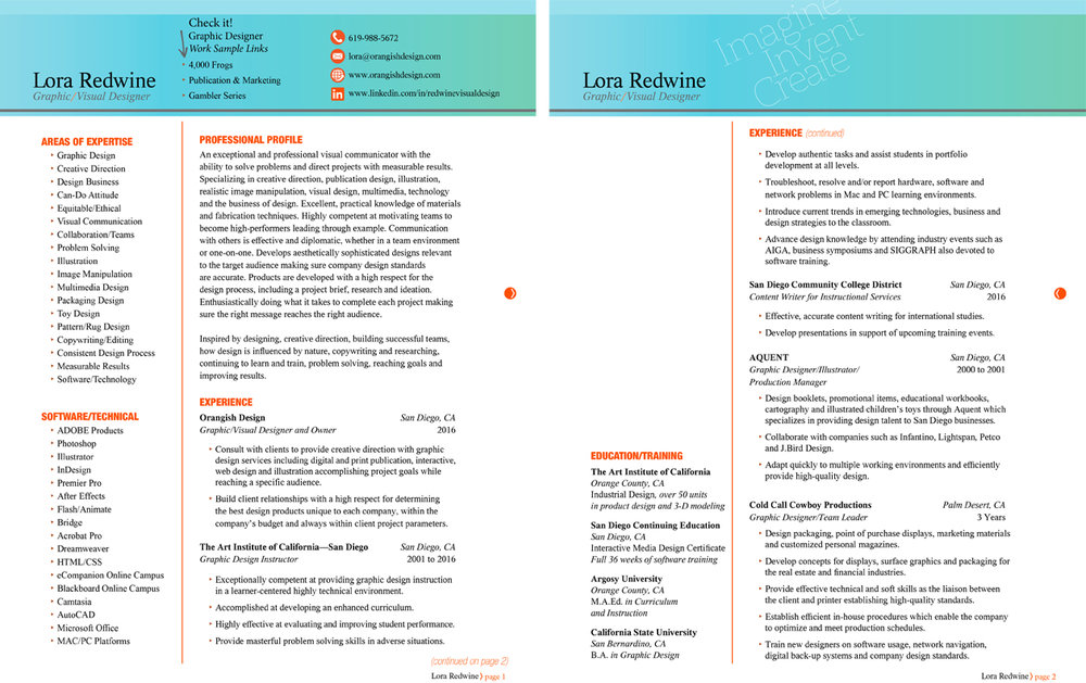 For position only. Please use PDF link above for Lora Redwine's resume.