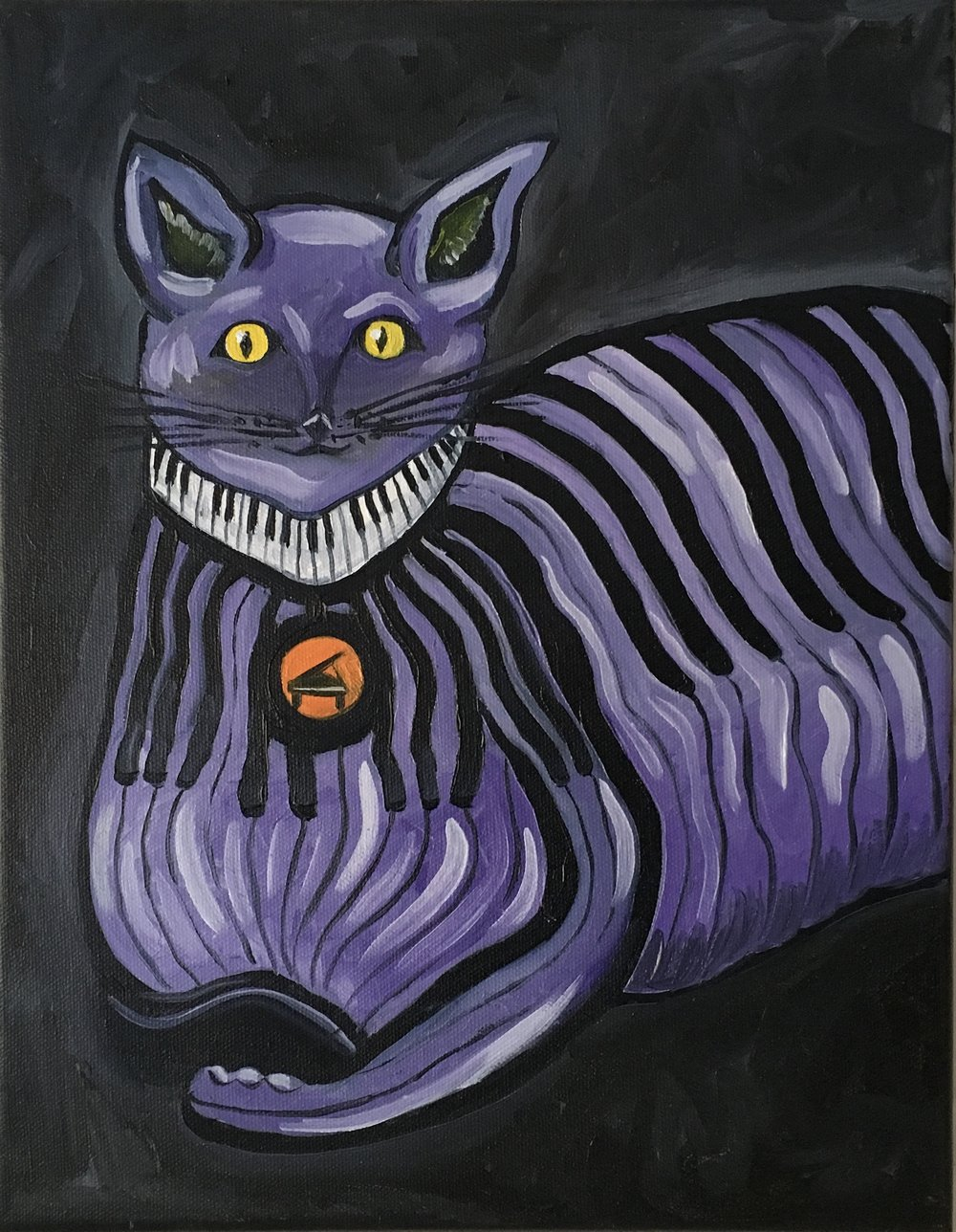 Purple Piano Kitty