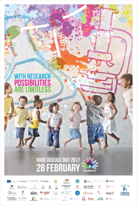 The official poster for Rare Disease Day 2017