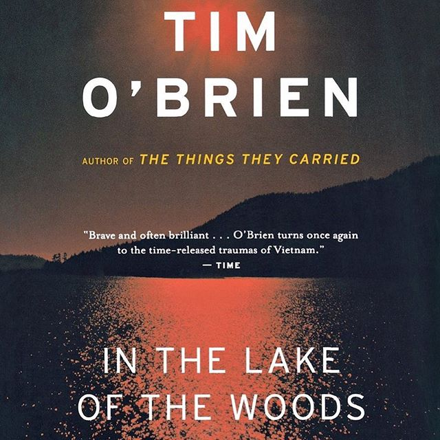 """I think we all read """"The Things They Carried"""" in high school, but """"In the Lake of the Woods"""" always gets pushed under all of Tim O'Brien's other works.  I read this during the summer before my sophomore year of college. I'd argue it's one of the books that sparked the inspiration within me to become an author myself. It's eerie, psychological, """"Gone Girl""""-esque, and keeps you guessing the entire time.  In other words, magnificent. #timobrien #inthelakeofthewoods #author #readersofinstagram #writersofinstagram #book #read #motivation #inspiration"""