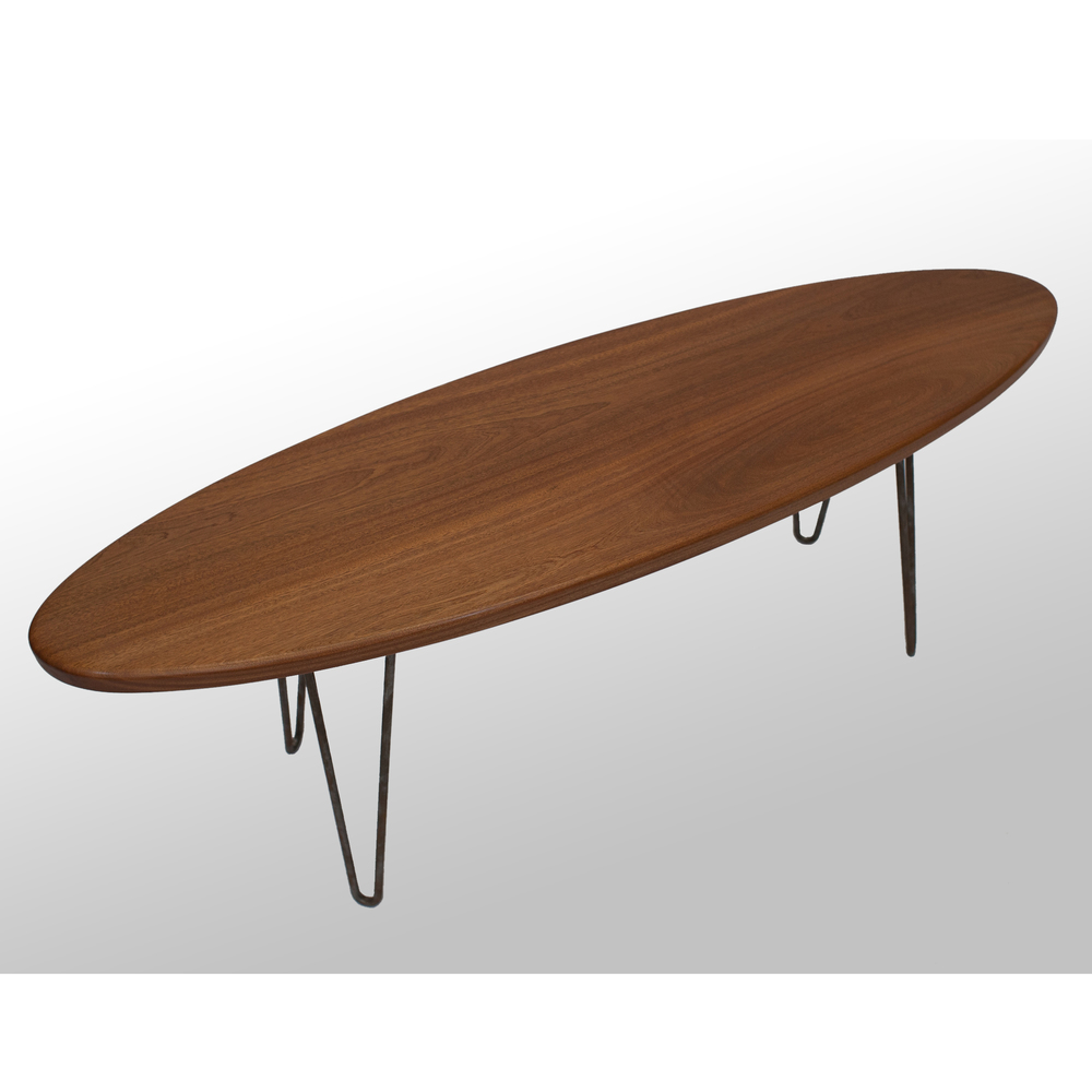 The Longboard Coffee Table: Sapele