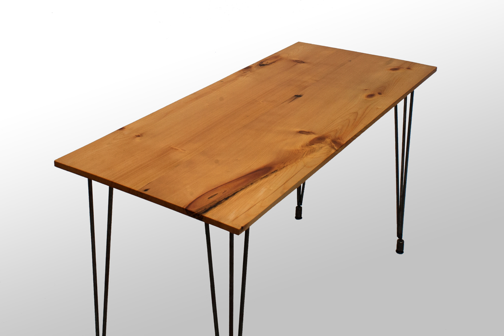 The Heller Desk Reclaimed White Pine Grain Control Midcentury - Mid century conference table