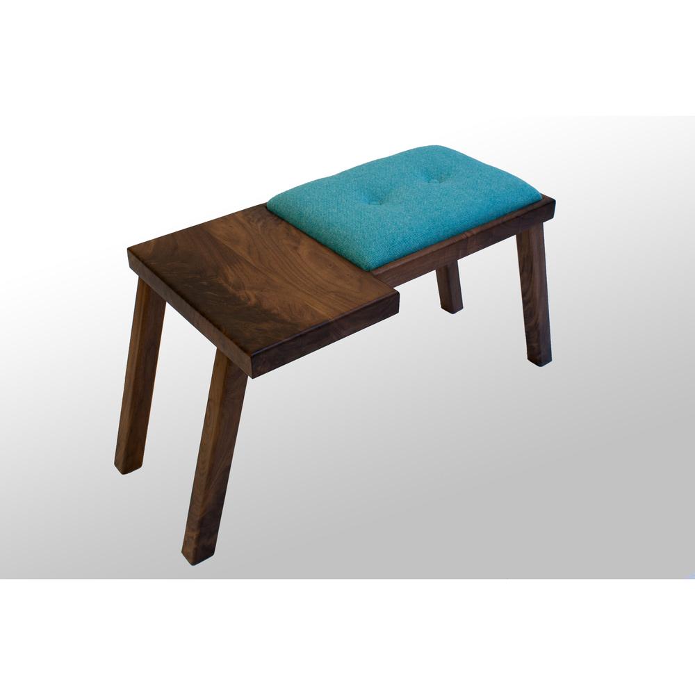 The Raymond Bench: Walnut (6 Cushion Color Options)