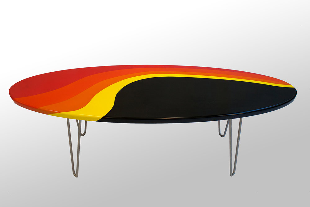 Custom Painted Longboard Coffee table