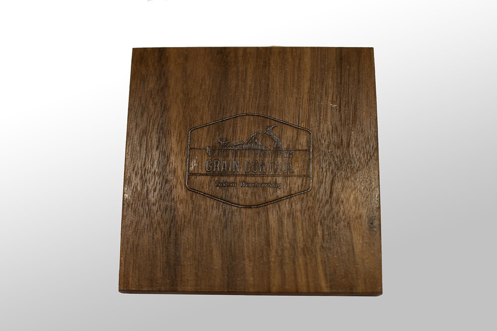Walnut Coaster with Red Oak Inlay