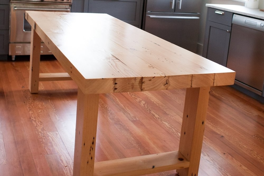 Reclaimed Fir Farmhouse Table with Epoxy